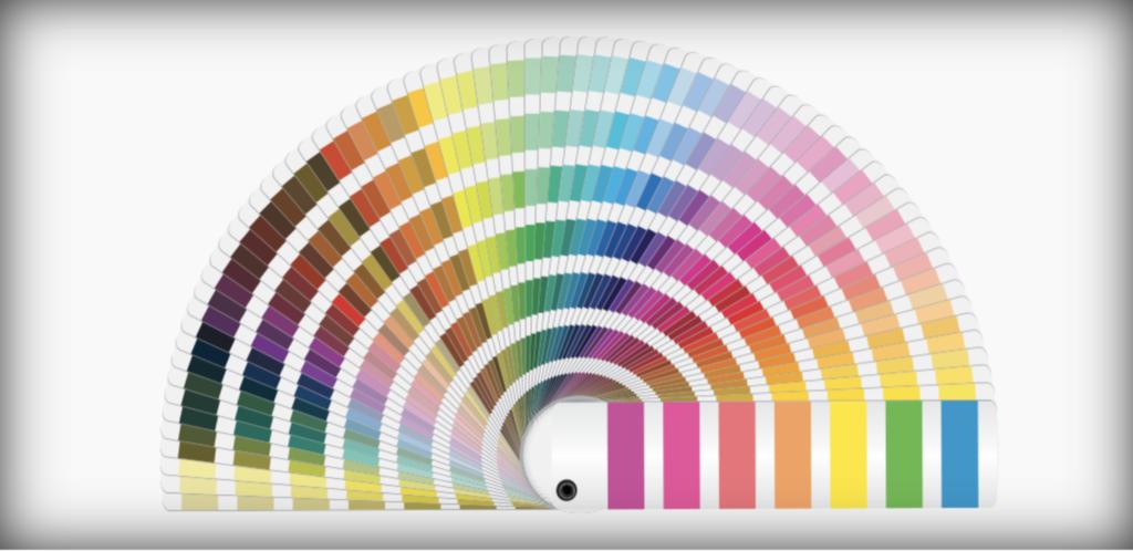 Nuancier des 3000 couleurs Pantone