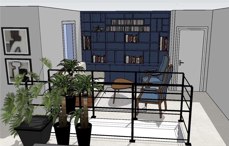 Le visuel 3D présente la future bibliothèque