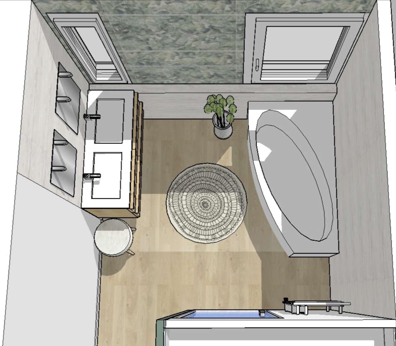 Visuel 3D- vue sur la salle de bain