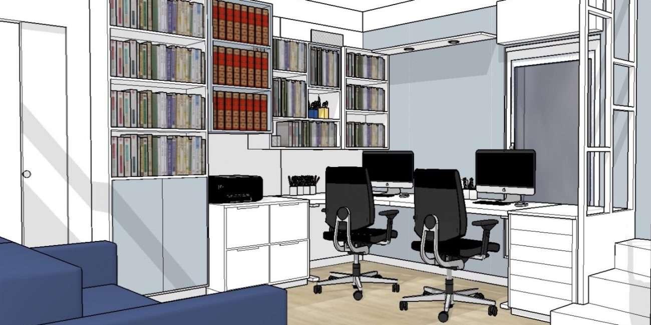 Vue en 3D sur les bibliothèques